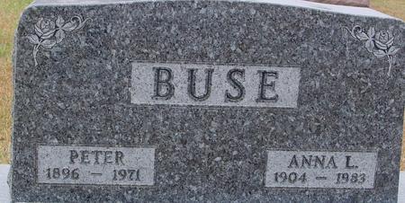 BUSE, PETER & ANNA - Sac County, Iowa   PETER & ANNA BUSE