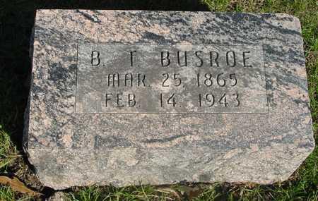 BUSROE, B. T. - Sac County, Iowa | B. T. BUSROE