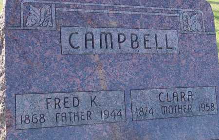 CAMPBELL, FRED K. & CLARA - Sac County, Iowa | FRED K. & CLARA CAMPBELL