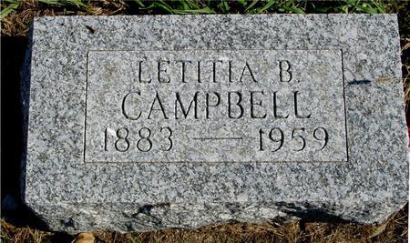 CAMPBELL, LETITIA B. - Sac County, Iowa   LETITIA B. CAMPBELL