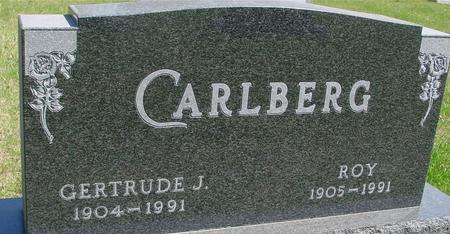 CARLBERG, ROY & GERTRUDE J. - Sac County, Iowa   ROY & GERTRUDE J. CARLBERG