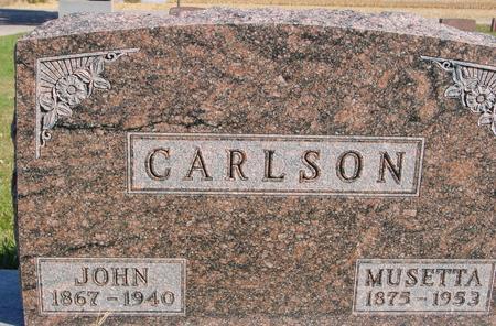 CARLSON, JOHN & MUSETTA - Sac County, Iowa | JOHN & MUSETTA CARLSON