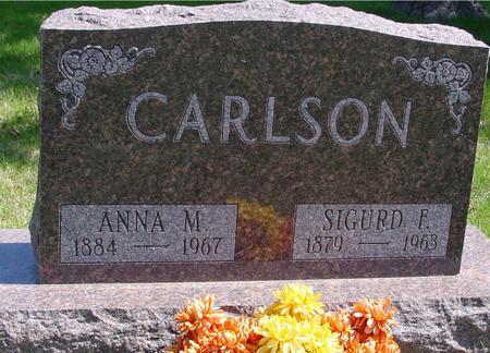 CARLSON, SIGURD F. & ANNA M. - Sac County, Iowa | SIGURD F. & ANNA M. CARLSON