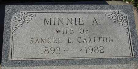 CARLTON, MINNIE A. - Sac County, Iowa | MINNIE A. CARLTON