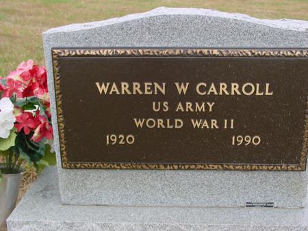 CARROLL, WARREN W. - Sac County, Iowa   WARREN W. CARROLL