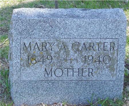 CARTER, MARY A. - Sac County, Iowa   MARY A. CARTER