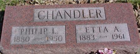 CHANDLER, PHILIP L. & ETTA - Sac County, Iowa | PHILIP L. & ETTA CHANDLER