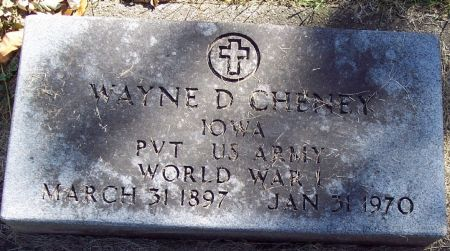 CHENEY, WAYNE DELOS - Sac County, Iowa | WAYNE DELOS CHENEY