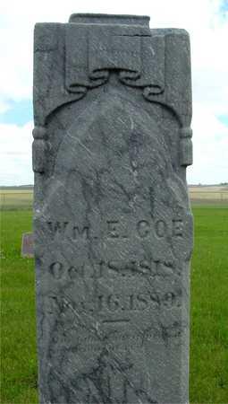 COE, WILLIAM E. - Sac County, Iowa | WILLIAM E. COE
