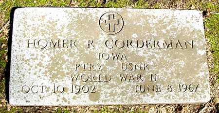 CORDERMAN, HOMER R. - Sac County, Iowa   HOMER R. CORDERMAN