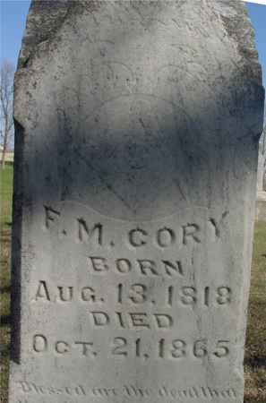 CORY, F. M. - Sac County, Iowa | F. M. CORY