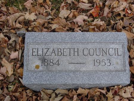 COUNCIL, ELIZABETH - Sac County, Iowa | ELIZABETH COUNCIL