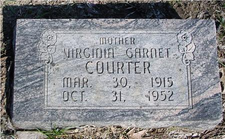 COURTER, VIRGINIA GARNET - Sac County, Iowa | VIRGINIA GARNET COURTER
