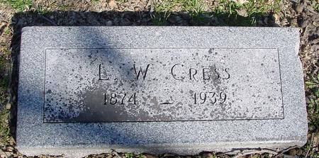 CRESS, L. W. - Sac County, Iowa | L. W. CRESS