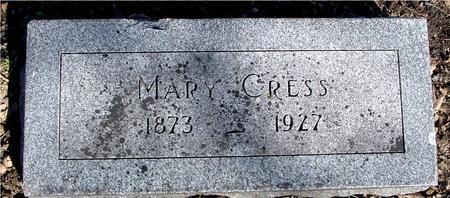 CRESS, MARY - Sac County, Iowa | MARY CRESS