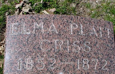 PLATT CRISS, ELMA M. - Sac County, Iowa | ELMA M. PLATT CRISS