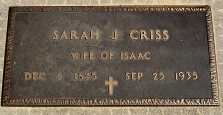 CRISS, SARAH J. - Sac County, Iowa | SARAH J. CRISS