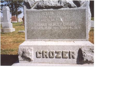 CROZER, REASON & HANNAH - Sac County, Iowa   REASON & HANNAH CROZER