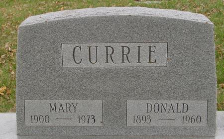 CURRIE, DONALD & MARY - Sac County, Iowa | DONALD & MARY CURRIE