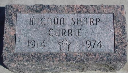 CURRIE, MIGNON - Sac County, Iowa | MIGNON CURRIE
