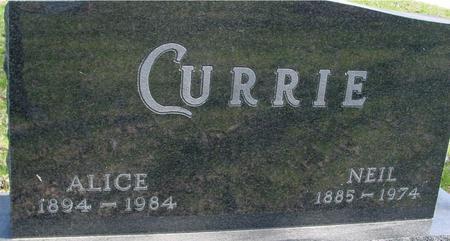 CURRIE, NEIL & ALICE - Sac County, Iowa   NEIL & ALICE CURRIE