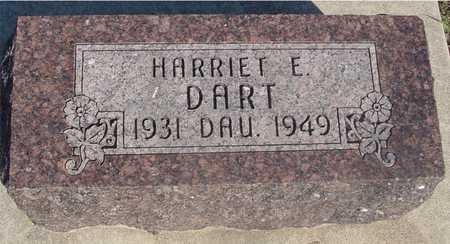 DART, HARRIET E. - Sac County, Iowa   HARRIET E. DART