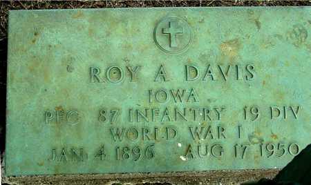DAVIS, ROY A. - Sac County, Iowa   ROY A. DAVIS