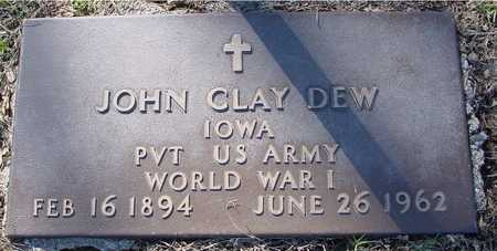 DEW, JOHN CLAY - Sac County, Iowa   JOHN CLAY DEW