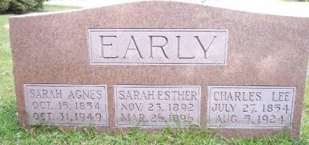 EARLY, SARAH ESTHER - Sac County, Iowa   SARAH ESTHER EARLY