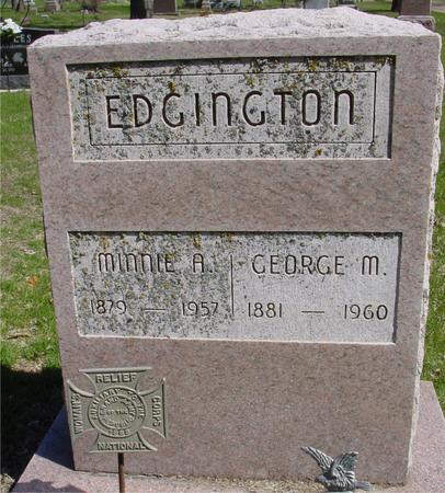 EDGINGTON, GEORGE & MINNIE A. - Sac County, Iowa | GEORGE & MINNIE A. EDGINGTON