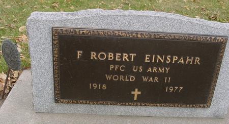EINSPAHR, F. ROBERT - Sac County, Iowa   F. ROBERT EINSPAHR
