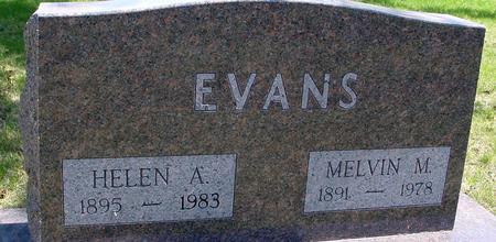 EVANS, MELVIN & HELEN - Sac County, Iowa   MELVIN & HELEN EVANS