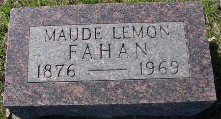 LEMON FAHAN, MAUDE - Sac County, Iowa | MAUDE LEMON FAHAN