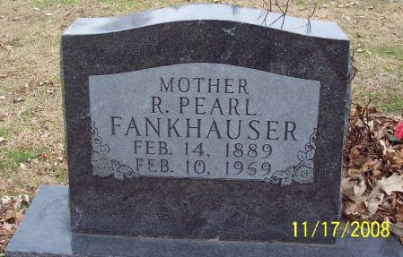 FANKHAUSER, R PEARL - Sac County, Iowa   R PEARL FANKHAUSER