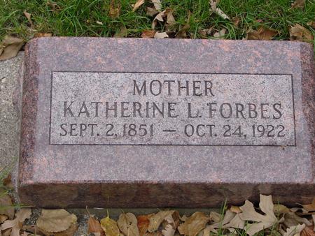FORBES, KATHERINE L. - Sac County, Iowa   KATHERINE L. FORBES