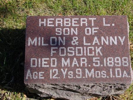 FOSDICK, HERBERT - Sac County, Iowa | HERBERT FOSDICK
