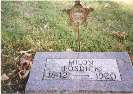 FOSDICK, MILON - Sac County, Iowa | MILON FOSDICK