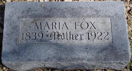 FOX, MARIA - Sac County, Iowa | MARIA FOX