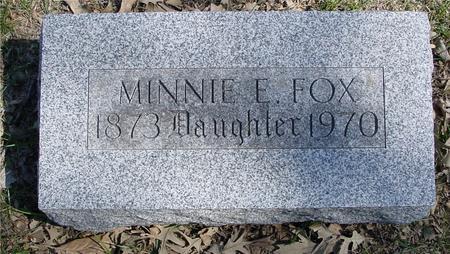 FOX, MINNIE E. - Sac County, Iowa | MINNIE E. FOX