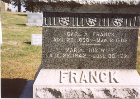 FRANCK, CARL A. - Sac County, Iowa | CARL A. FRANCK