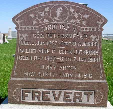 FREVERT, WILHELMINE C. - Sac County, Iowa | WILHELMINE C. FREVERT