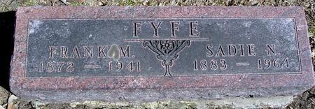 FYFE, FRANK M. & SADIE - Sac County, Iowa | FRANK M. & SADIE FYFE