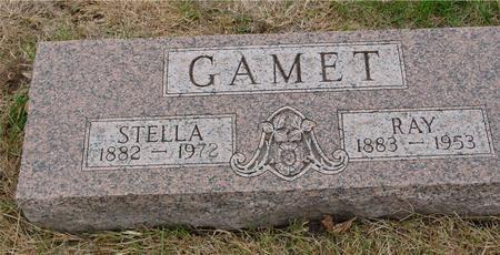 GAMET, RAY & STELLA - Sac County, Iowa   RAY & STELLA GAMET