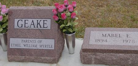 GEAKE, MABEL F. - Sac County, Iowa | MABEL F. GEAKE