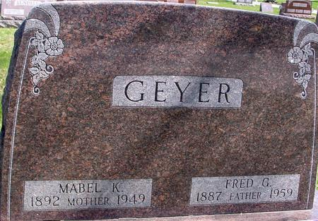 GEYER, FRED & MABEL - Sac County, Iowa | FRED & MABEL GEYER