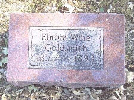 WINE GOLDSMITH, ELNORA KATIE - Sac County, Iowa   ELNORA KATIE WINE GOLDSMITH