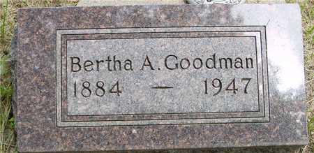 GOODMAN, BERTHA A. - Sac County, Iowa   BERTHA A. GOODMAN