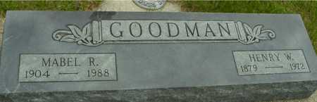 GOODMAN, HENRY & MABEL - Sac County, Iowa | HENRY & MABEL GOODMAN