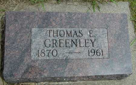 GREENLEY, THOMAS E. - Sac County, Iowa   THOMAS E. GREENLEY