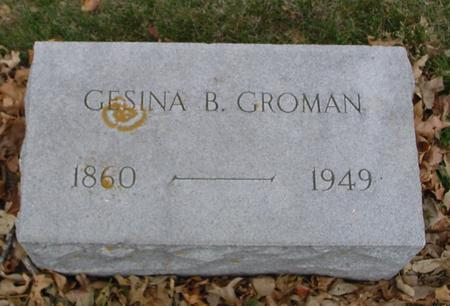 GROMAN, GESINA B. - Sac County, Iowa | GESINA B. GROMAN